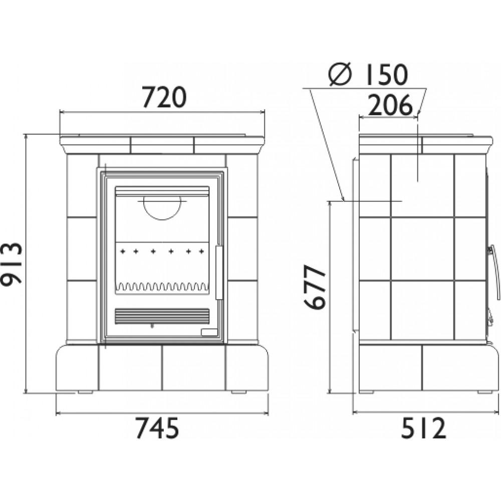 abx marina k kachelofen mit gusseisen einsatz kacheln. Black Bedroom Furniture Sets. Home Design Ideas
