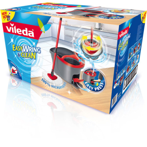 VILEDA EasyWring & Clean Wischmop Set mit EasyWring Schleuder 133649 140825